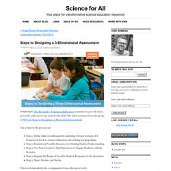 Steps to Designing a 3-Dimensional Assessment