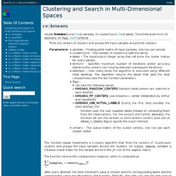 Clustering and Search in Multi-Dimensional Spaces