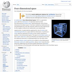 Four-dimensional space