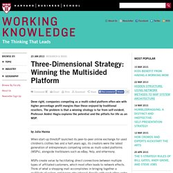 Three-Dimensional Strategy: Winning the Multisided Platform