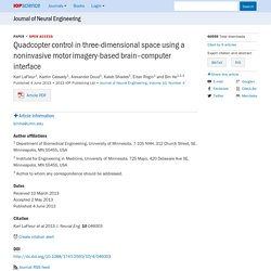 Quadcopter control in three-dimensional space using a noninvasive motor imagery-based brain–computer interface