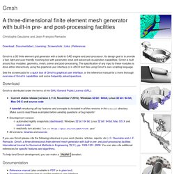 Gmsh: a three-dimensional finite element mesh generator with built-in pre- and post-processing facilities