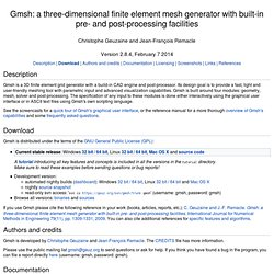 Gmsh: a 3D finite element mesh generator with built-in pre- and post-processing facilities