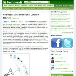 Peartrees: Multi-dimensional Curation - Technorati Technology