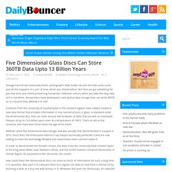 Five Dimensional Glass Discs Can Store 360TB Data Upto 13 Billion Years - Daily Bouncer, Latest Headlines, Todays News Headlines, Current Breaking News, Latest News TodayDaily Bouncer, Latest Headlines, Todays News Headlines, Current Breaking News, Latest