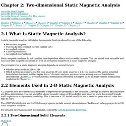 EMAG: Chapter 2: Two-dimensional Static Magnetic Analysis (UP19980818)