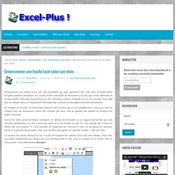 Dimensionner une feuille Excel selon son choix