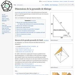 Dimensions de la pyramide de Khéops — Centre de Recherche sur les Anciennes Civilisations