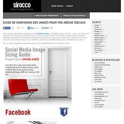 Guide de dimensions des images pour vos médias sociaux | Sirocco Communication