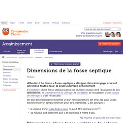 Dimensions fosse septique : calcul - ComprendreChoisir