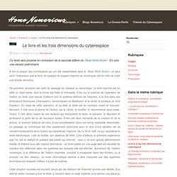 Le livre et les trois dimensions du cyberespace