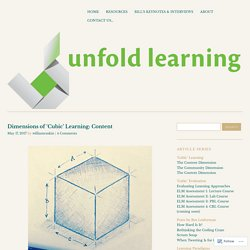Dimensions of 'Cubic' Learning: Content