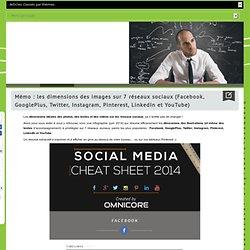 Dimensions des images sur 7 réseaux sociaux (Facebook, GooglePlus, Twitter, Instagram, Pinterest, LinkedIn et YouTube)