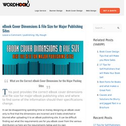 eBook Cover Dimensions & File Size for Major Publishing Sites