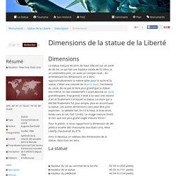 Dimensions de la statue de la Liberté