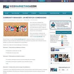 Community Manager : un métier en 3 dimensions
