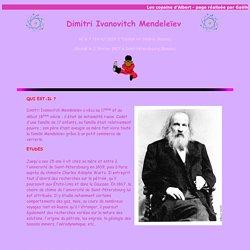 Dimitri Ivanovitch mendeleïev