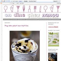 Mug cake yaourt aux myrtilles