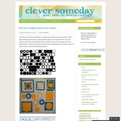 New free dingbat font for die cutters « Clever Someday