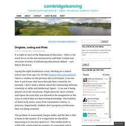 Dingbats, coding and iPads