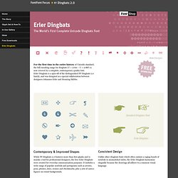 Erler Dingbats :: The World's first Complete Unicode Dingbats Font