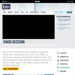 Dingo Decision: 19/06/2012, Behind the News