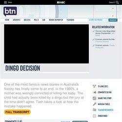 Dingo Decision: 19/06/2012, Behind the News