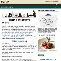 Dining Etiquette Encyclopedia
