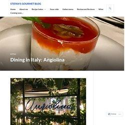 Dining in Italy: Angiolina