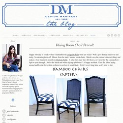 Dining Room Chair Reveal!
