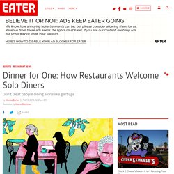 Dinner for One: How Restaurants Welcome Single Diners