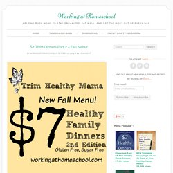 $7 THM Dinners Part 2 – Fall Menu!
