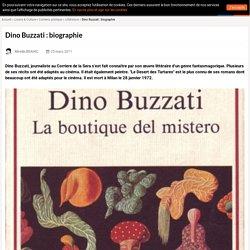 Dino Buzzati : biographie