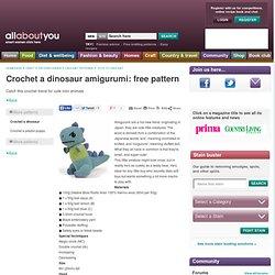 Crochet a dinosaur amigurumi: free pattern