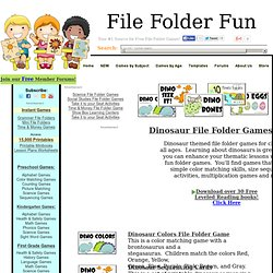 Dinosaur File Folder Games