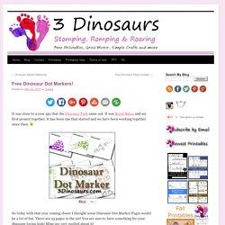 Free Dinosaur Dot Markers!