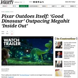 'The Good Dinosaur' Pacing Ahead of Other Pixar Megahit 'Inside Out'