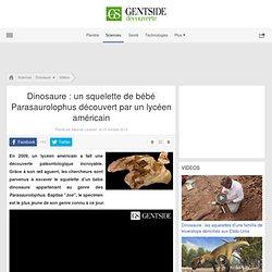 Dinosaure: un squelette de bébé Parasaurolophus découvert par un lycéen américain