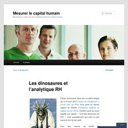 Les dinosaures et l'analytique RH