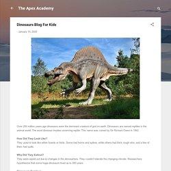 Dinosaurs Blog For Kids
