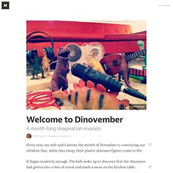 Welcome to Dinovember — Thoughts on creativity