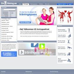 Övningar för styrketräning, rörlighet och balans.