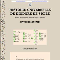 DIODORE DE SICILE : livre XII