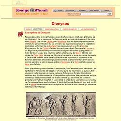 Dionysos : les mythes.