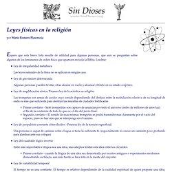 Leyes físicas en la religión