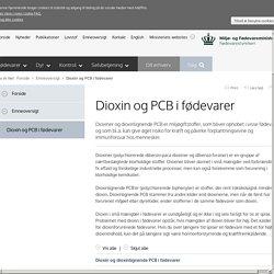 Dioxin og PCB i fødevarer - Fødevarestyrelsen