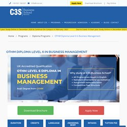 OTHM Diploma Level 6 in Business Management – C3S Business School