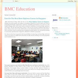 Enrol In The Best Short Diploma Courses In Singapore