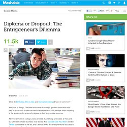 Diploma or Dropout: The Entrepreneur's Dilemma