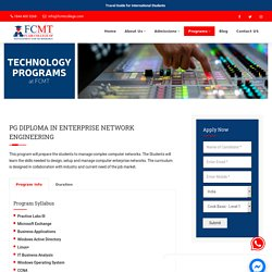 PG Diploma in Enterprise Network Engineering - FCMT
